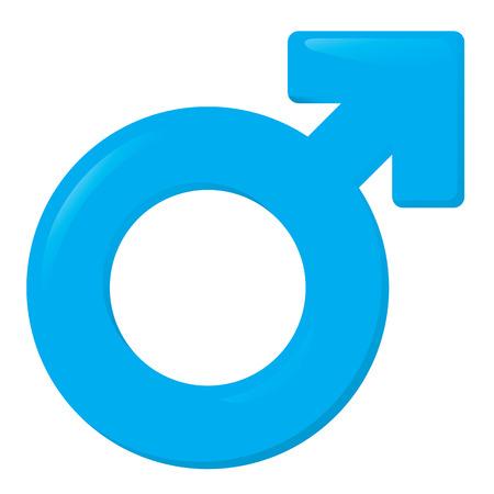 masculin: Ilustración de un icono símbolo masculino, hombre. Ideal para catálogos, informativos e institucionales materiales