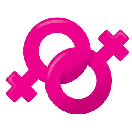 symbol icon: Illustration of an icon symbol fri, woman, female homosexual couple. Ideal for catalogs, informative and institutional materials