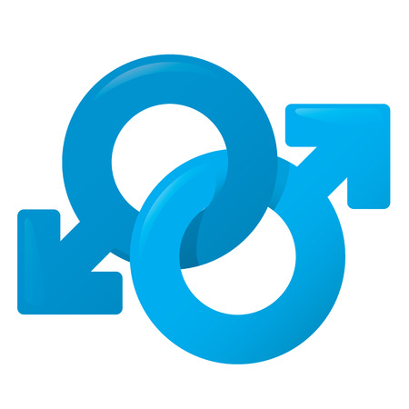 homosexual partners: Illustration of an icon symbol fri, man, male homosexual couple. Ideal for catalogs, informative and institutional materials