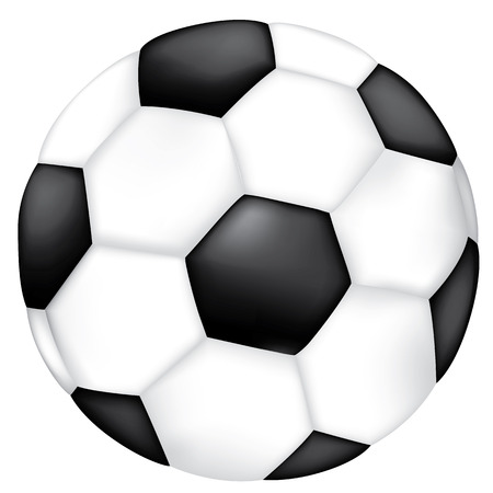 cartoon ball: Object illustration sporting goods soccer ball. Ideal for catalogs, informative and sporting catalogs