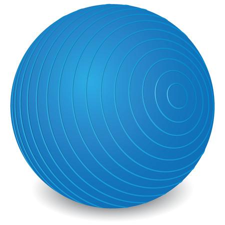 オブジェクトを表すイラスト演習、理学療法ピラティス ボール器具。カタログと教材に最適と制度