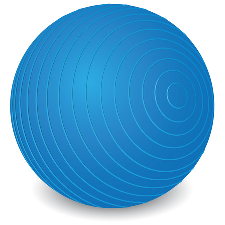 Ilustración que representa objetos para ejercicios y pilates terapia equipo físico gym pelota. Ideal para catálogos y material didáctico e institucional