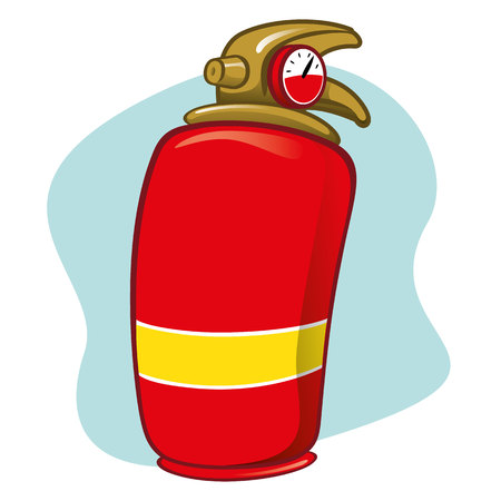 compressed air hose: Illustration item is safety fire extinguisher. Ideal for catalogs, informative and institutional materials Illustration