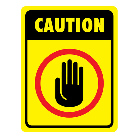 Illustration d'une plaque de signalisation à la prudence, attention, avertissement, danger. idéal pour la communication visuelle et matériaux institutionnels Vecteurs