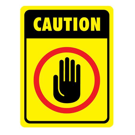 Illustration d'une plaque de signalisation à la prudence, attention, avertissement, danger. idéal pour la communication visuelle et matériaux institutionnels