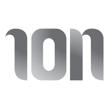 ion: Icon symbol load ion word. Ideal for visual communication, informative and institutional materials