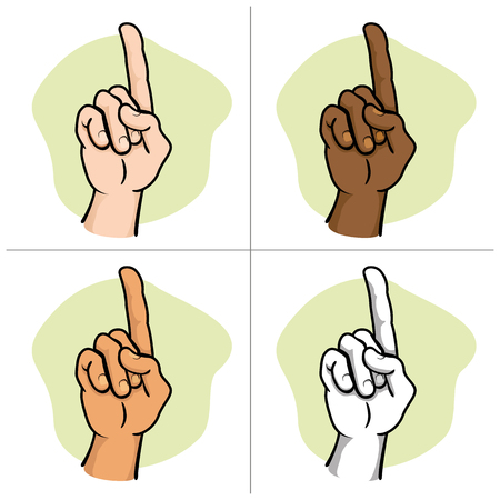 african descent: Close body, hand Indicating number one African descent. Ideal for educational materials and institutional