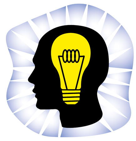 canonical: Illustration representing Icon thinking genius idea