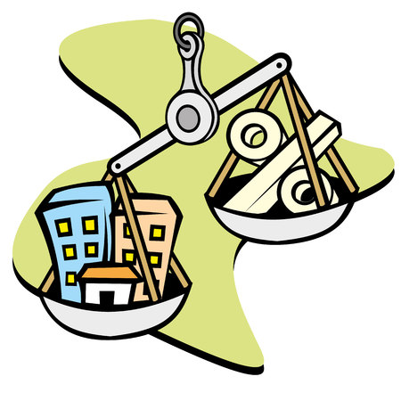 guarantor: Real estate symbol illustration. Ideal for materials publicist and institutional