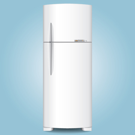 institutional: Object illustration, home appliance machine, fridge freezer. Ideal for catalogs and institutional materials