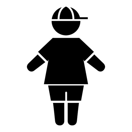 cartoon board: Icon pictogram boy child gender. Ideal for catalogs, informative and institutional materials