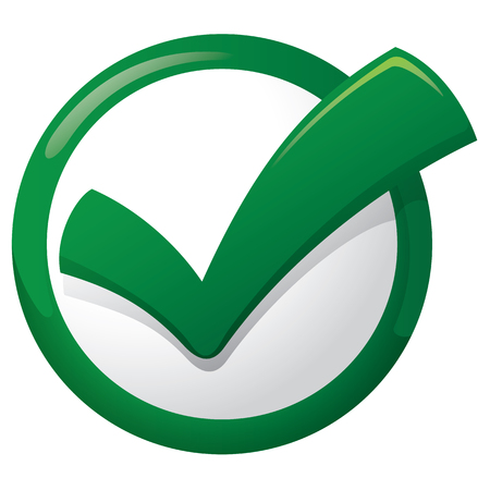 Illustration representing Icon sure button, right, okay, yes, tick. Ideal for informational and institutional materials