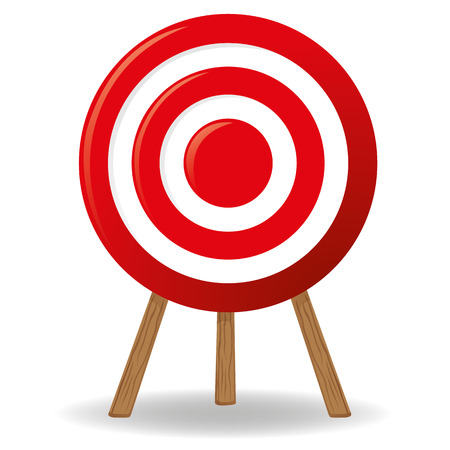sport object: Target object supported, shooting sport target in front. Ideal for informational and institutional related sanitation and care Illustration