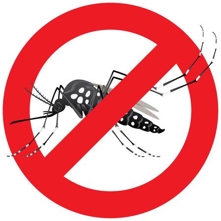 Natur, Aedes aegypti Moskitos Stelzen mit verbotenen Zeichen. Ideal zu Informationszwecken und institutionellen Hygiene und Pflege Standard-Bild - 52125076