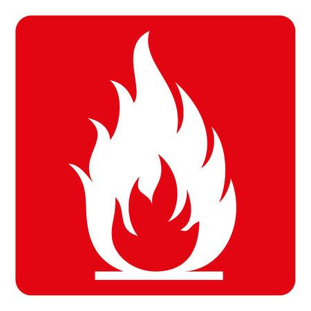 poste indicador, fuego, fuego, inflamable. Ideal para la comunicación visual y materiales institucionales Ilustración de vector