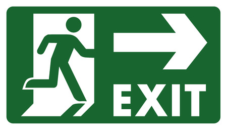 delimitation: signpost, leave, enter or pass through the door right. Ideal for visual