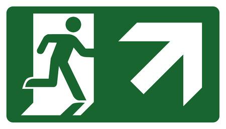 panneau, laissez, entrer ou passer à travers la porte sur la droite. Idéal pour la communication visuelle