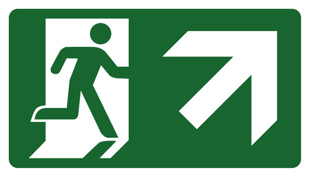 delimitation: signpost, leave, enter or pass through the door down the right. Ideal for visual communication Illustration