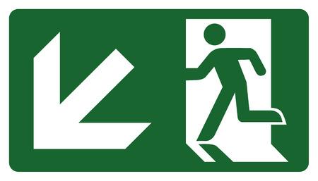 panneau, laissez, entrer ou passer à travers la porte sur la gauche. Idéal pour la communication visuelle Vecteurs