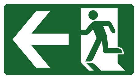panneau, laissez, entrer ou passer à travers la porte sur la gauche. Idéal pour la communication visuelle et matériaux institutionnels