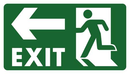panneau, laissez, entrer ou passer à travers la porte sur la gauche. Idéal pour la communication visuelle et matériaux institutionnels Vecteurs