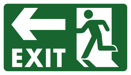 delimitation: signpost, leave, enter or pass through the door on the left. Ideal for visual communication and institutional materials
