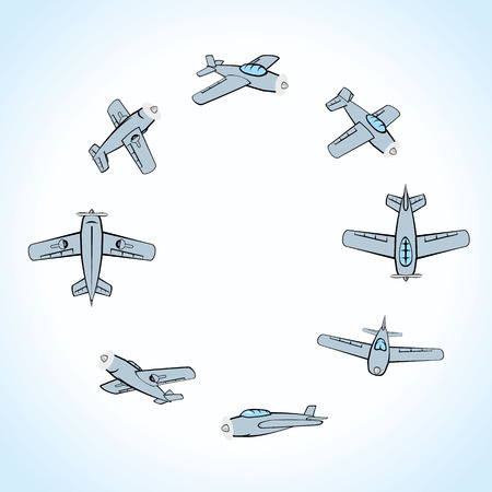 acrobatics: vehicle transport airplane doing acrobatics