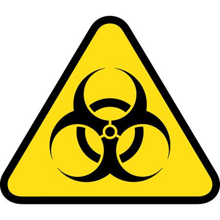 riesgo biologico: señal de tráfico triángulo, icono de riesgo biológico, químico y residuos hospitalarios