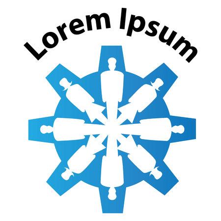 conglomerate: Icons, symbols representing union society Illustration