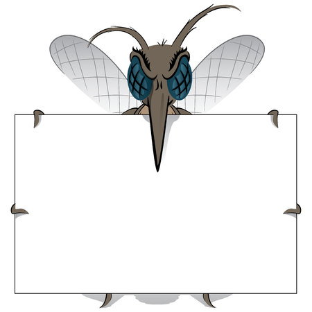 institutional: Mosquito stilt holding poster Great. Ideal for informational and institutional related sanitation and care