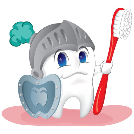 molares: Ilustración de un diente sano, protegido y blindado contra la caries. Ideal para catálogos, materiales de información y institucionales