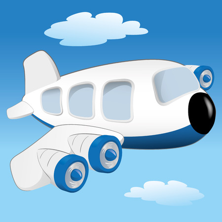 transportation cartoon: Illustration is a vehicle transport aircraft or aircraft flying. Ideal for educational materials and institutional