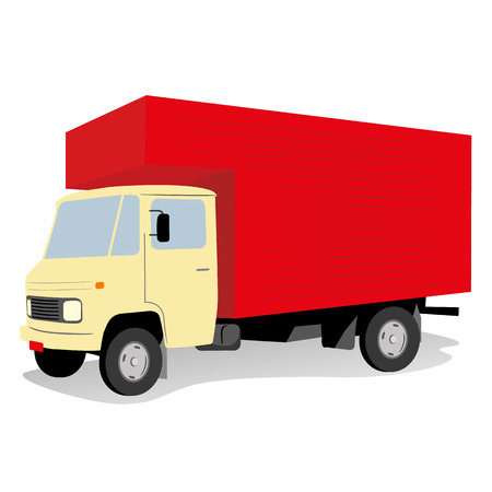 dump body: Illustration is a truck vehicle transportation trunk body. Ideal for educational materials and institutional Illustration