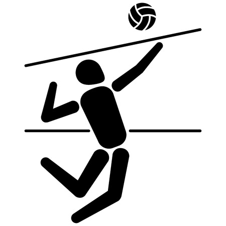 institutional: Illustration is a person volleyball player, various forms of sports and games. Ideal for educational materials, sports and institutional Illustration