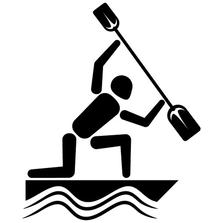 rower: This is sport pictogram mode Slalom games Illustration