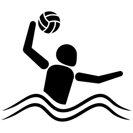 This is sport pictogram mode polo aquatic, games. Ideal for materials on sport and institutional