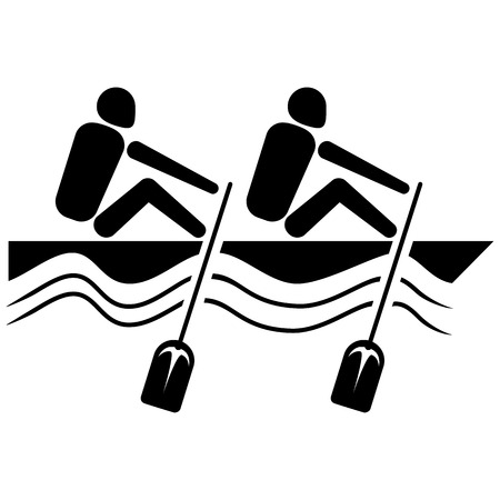 iconography: This is sport pictogram mode Rowing Canoeing, games. Ideal for materials on sport and institutional