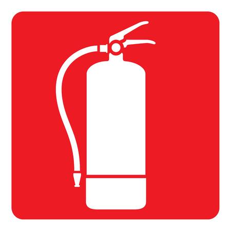 signalisation rouge Pictogram, extincteur. Idéal pour les matériaux de communication visuelle et de la sécurité et la prévention des incendies
