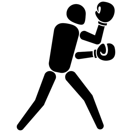 cross match: This is sport pictogram, pugilism boxing mode, games. Ideal for materials on sport and institutional