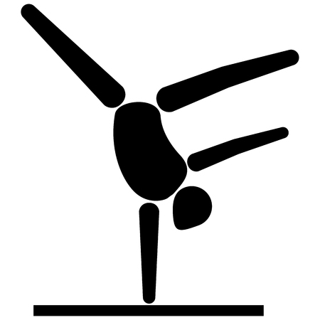 This is sport pictogram, artistic gymnastics modality games. Ideal for materials on sport and institutional Vettoriali