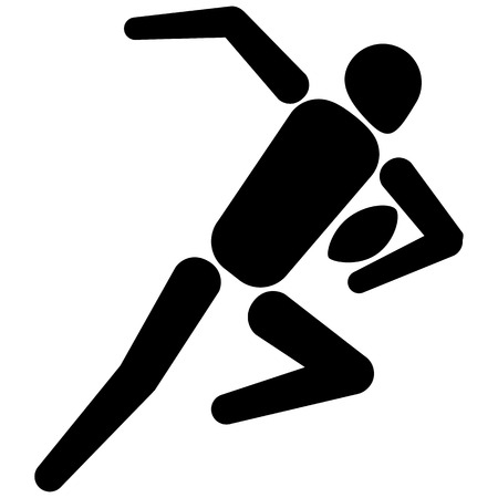 cleats: This is sport pictogram, rugby sport, games. Ideal for materials on sport and institutional