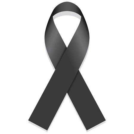 holocaust: Icon symbol of struggle and awareness, black ribbon. Ideal for educational materials and information