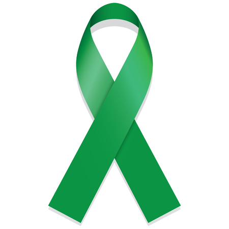 partisan: Icon symbol of struggle and awareness, green ribbon. Ideal for educational materials and information