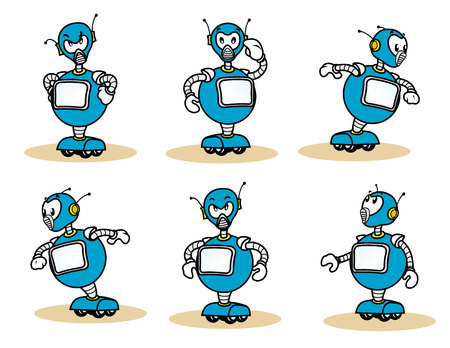 charismatic: Illustration of a robot mascot character. Ideal for training and internal materials Illustration
