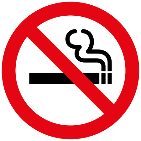 Icon pictogram prohibited sign smoke. Ideal for catalogs, informational and institutional materials