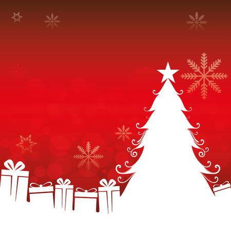 Tekening van een kerstboom opgezet. Ideaal voor institutionele en educatief materiaal Vector Illustratie