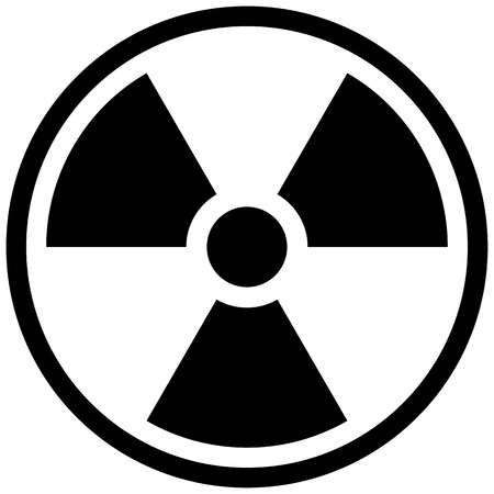 radioactive symbol: The illustration Represents the symbol of radiation, product sign and debris radioactive. Ideal for catalogs of institutional materials Illustration