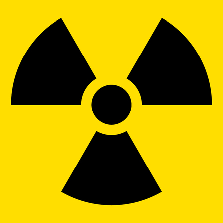The illustration Represents the symbol of radiation, product sign and debris radioactive. Ideal for catalogs of institutional materials Illustration