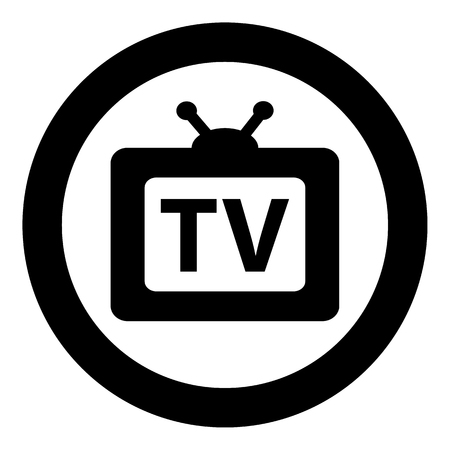 dissemination: Illustration Icon and symbol of television medium. Ideal for infographics and institutional materials
