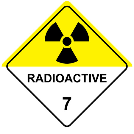plutonium: The illustration Represents the symbol of radiation, product sign and debris radioactive. Ideal for catalogs of institutional materials Illustration